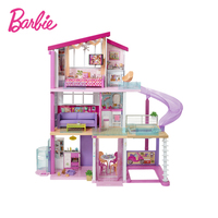 Mattel Barbie Doll Set Gift Box Dream Mansion Big Villa Play House Gift Girl's Toy Baby Doll Toys Dolls for Girls Baby Doll Toys