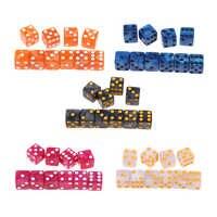 10 Uds. De juguetes de TRPG D6 de seis caras para DND MTG, accesorio para fiesta, regalo