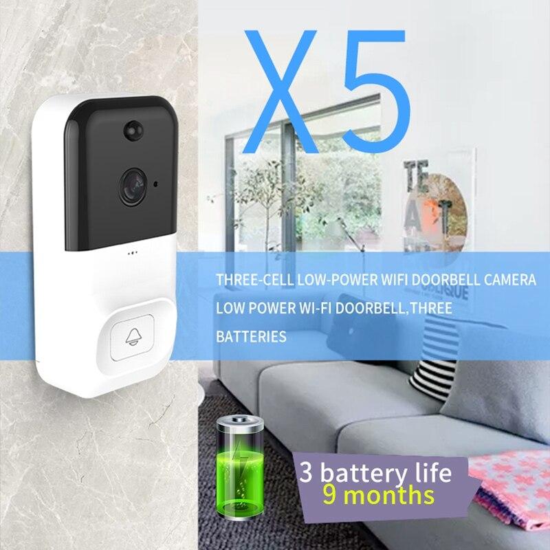 Hot X5 Wireless WiFi DoorBell Smart Video Phone Visual Intercom 2 Way Talk Door Bell