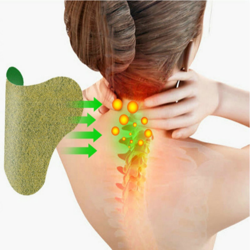 60Pcs Health Care Cervical Patch Pain Plaster Relaxing Natural Wormwood Rheumatic Arthritis Plaster for Neck Shoulder Massage