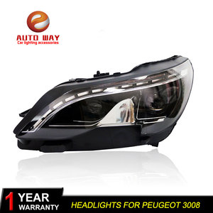 Image 5 - Car Styling Head Lamp case for Peugeot 3008 2017 Headlights LED Headlight DRL Lens Double Beam Bi Xenon HID Car Accessorie