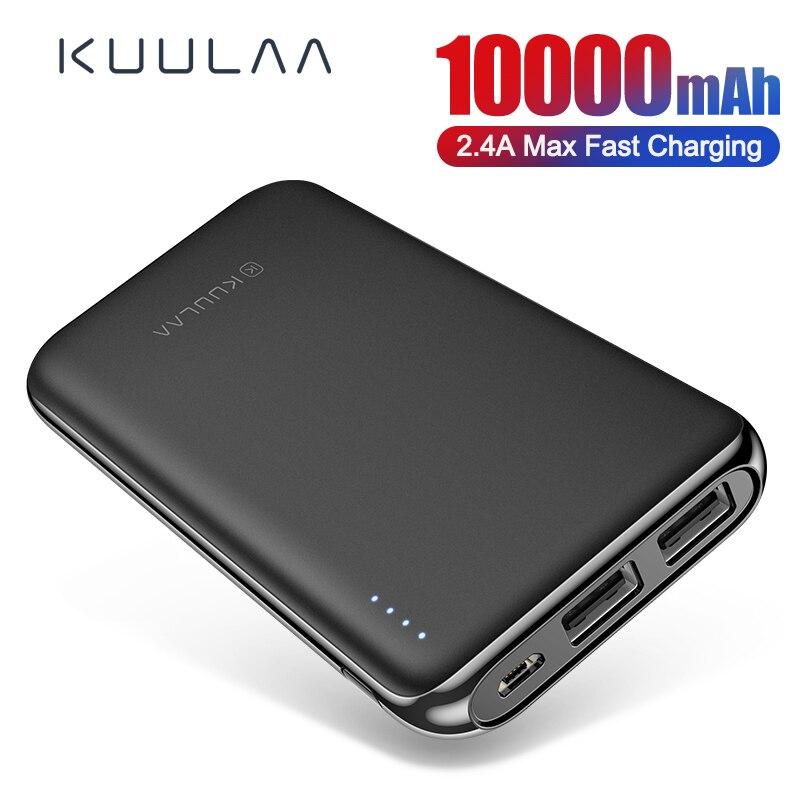 KUULAA Power Bank 10000 MAh PowerBank Portable Charging Poverbank 10000mAh USB External Battery Charger For Xiaomi Mi 9 8 IPhone