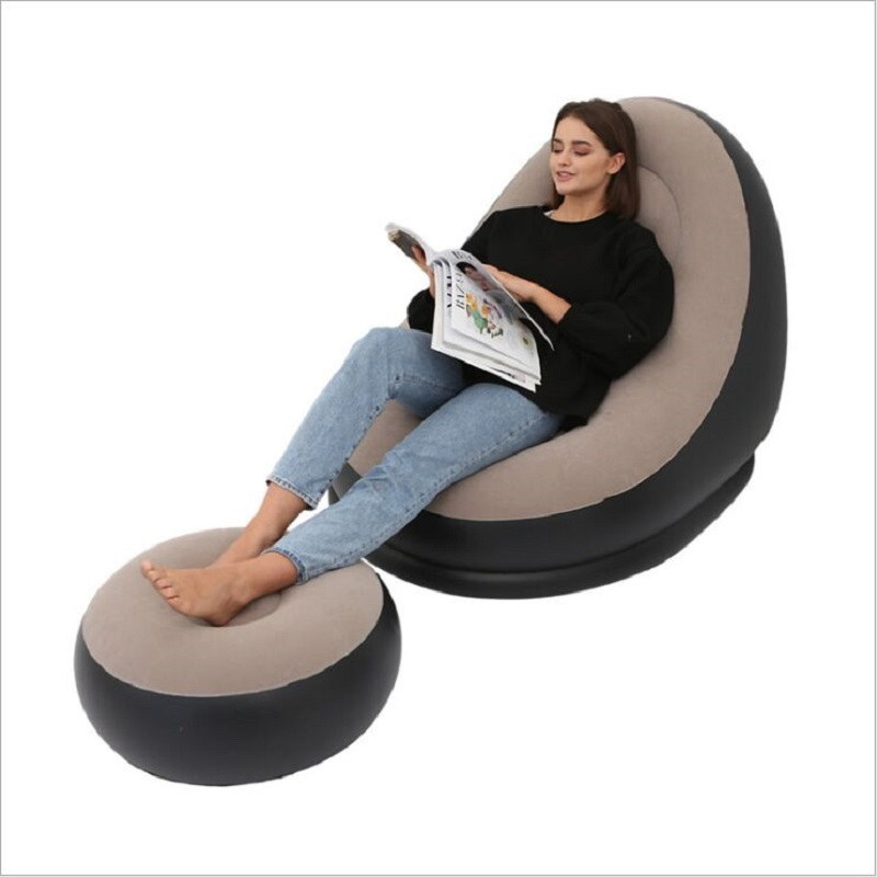 Sofa Plush New And The for Lazy-People Flocking Outdoor with Foot-Pedal Foldable