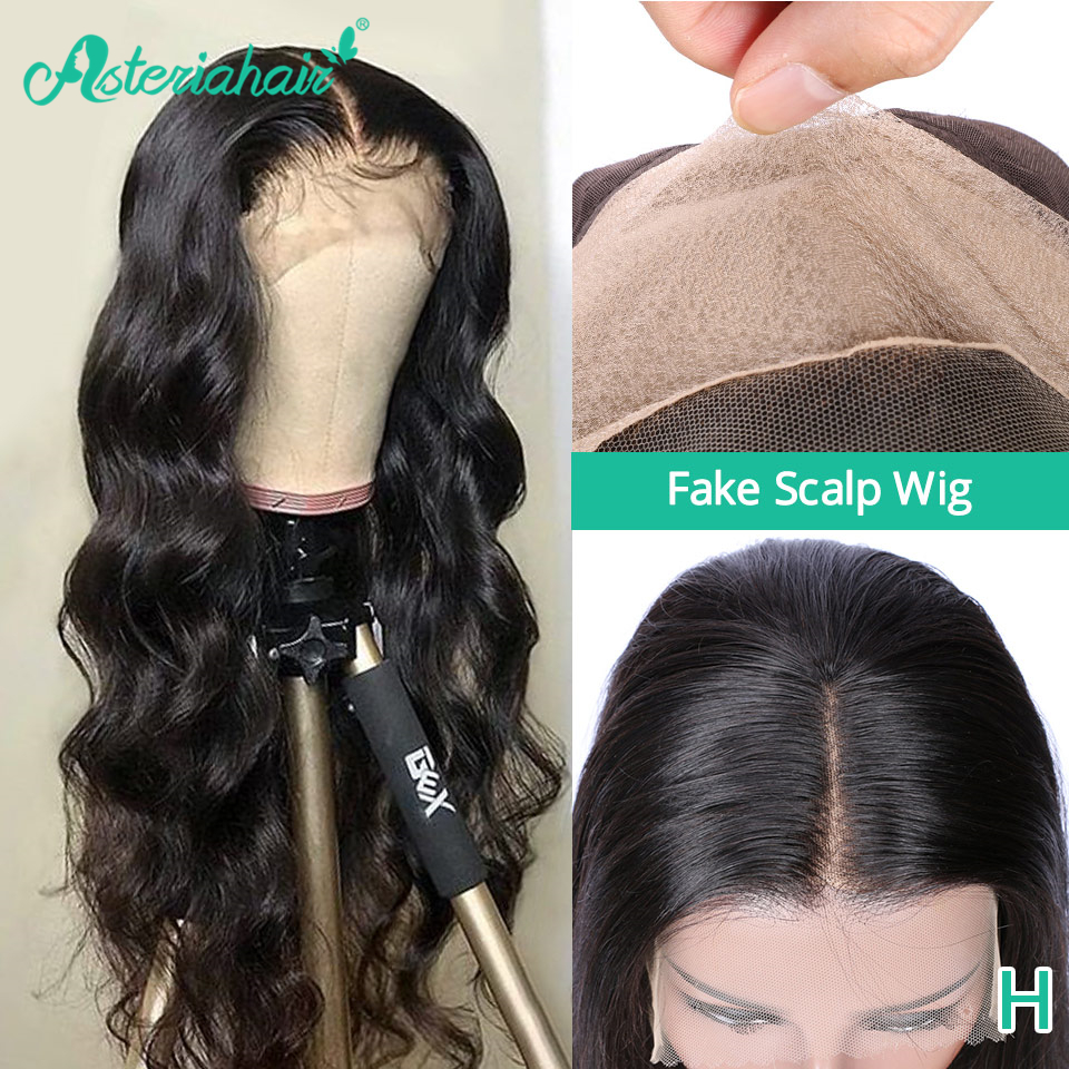 Asteria Body Wave Fake Scalp Lace Frontal Human Hair Wigs Brazilian Transparent Lace Wigs 180 Density High Ratio Remy Hair Weave