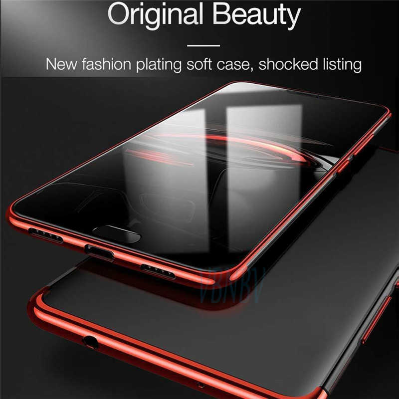 Plating TPU Silikon Case untuk Huawei Kehormatan 20 Pro 10 Lite 8X 8C P30 Pro P20 Lite Mate 30 20 Pro P Smart 2019 Clear Cover