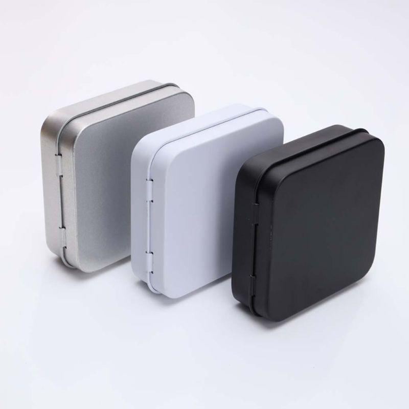 5 шт. мини металлические жестяные банки Контейнер квадратный откидной флип жестяная коробка для хранения небольших комплект чехол Ювелирна...