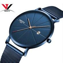 NIBOSI Reloj de pulsera Unisex, reloj de pulsera ultrafino Para Hombre y mujer