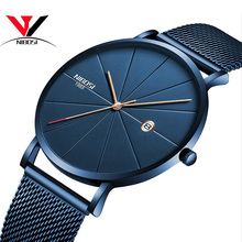NIBOSIนาฬิกาผู้หญิงและผู้ชายนาฬิกาแบรนด์หรูที่มีชื่อเสียงแฟชั่นนาฬิกาUnisex Ultra Thinนาฬิกาข้อมือRelojes Para Hombre