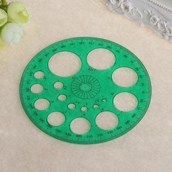Kątomierz 360 stopni okrągły szablon linijki koło szkolne materiały kreślarskie tanie i dobre opinie CN (pochodzenie) Z tworzywa sztucznego KSJ170 Random delivery 11 5cm(4 53in)