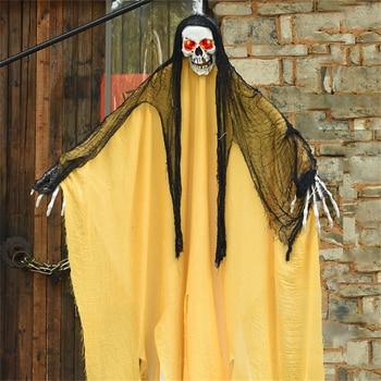 1.8m Big Horror Halloween Decoration Ghost Grim Reaper Ghost Haunted Horror Scream Creepy Halloween Ghost Scary Halloween Props