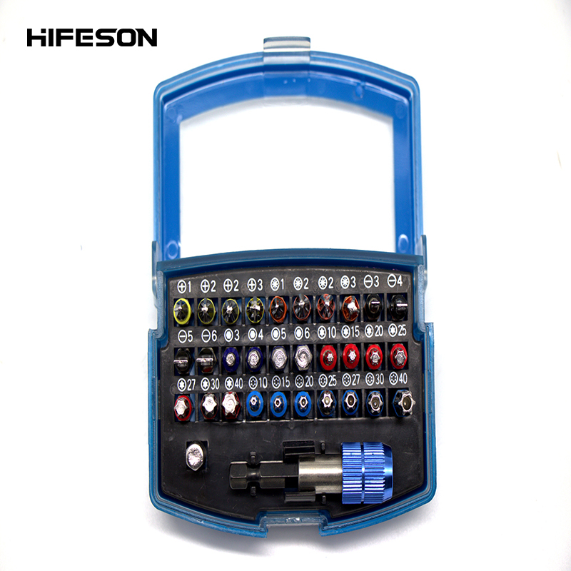 32 Pcs Multifunction Manual Single Head Magnetic Hand Screwdriver Bit Set for For Power Electric Screw Driver Repair Tools