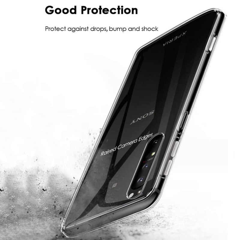 Przezroczysty miękki futerał TPU dla Sony Xperia 10 ii 10 Plus L3 L4 krzemu wyczyść pokrywa dla Xperia 1 ii XA1 XA2 XA3 XZ1 XZ3 XZ4 Coque
