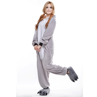 Grey Koala Unisex Adult One-Piece Pajamas Cosplay Onesies Cartoon Adult One-piece Animal Sleepwear for Pyjamas Christmas Costume