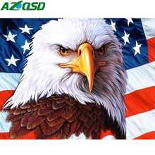 AZQSD Diamond Painting 5d Eagle Animal Embroidery Full Drill Home Decoration Gift Needlework Picture Of Rhinestones Handicrafts