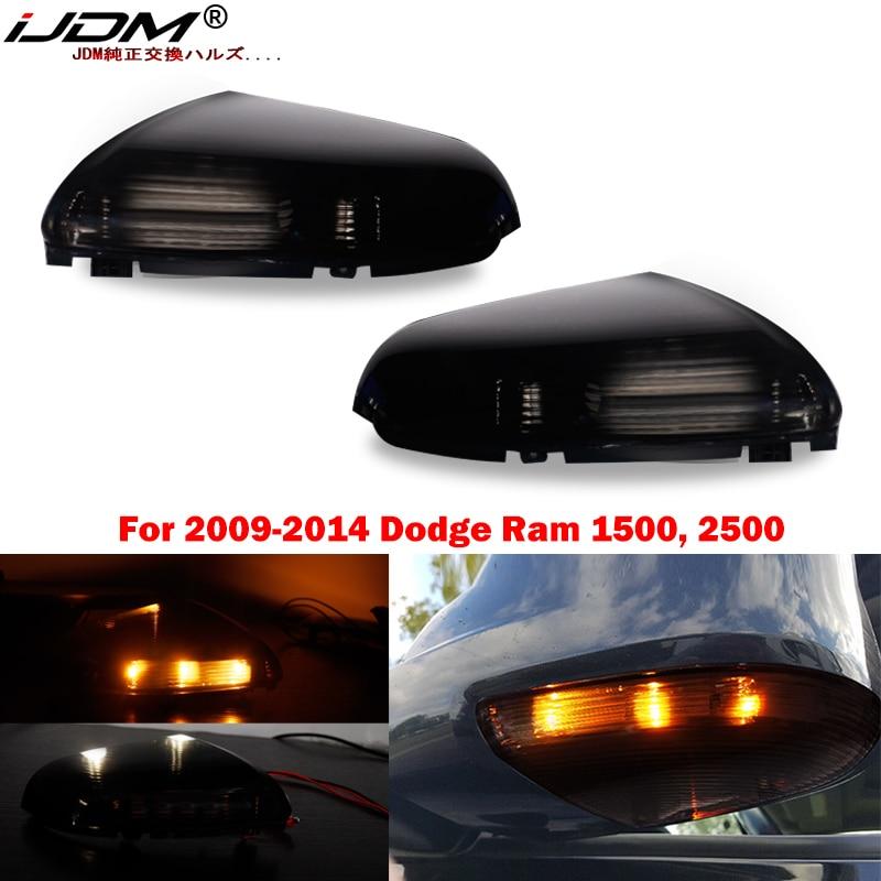 O switchback do ijdm conduziu as lâmpadas laterais do marcador do espelho para 09-14 dodge ram 1500, 2500, luz de estacionamento conduzida branca, luz conduzida âmbar do sinal da volta