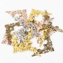 Металлические уголки для книг Скрапбукинг фото альбомы уголок для обеденной карты протекторы металлические поделки DIY орнамент 41x41 мм 20шт