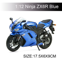 KWSK Ninja ZX6R Blue motorcycle model 1:12 scale models Alloy racing  Toys Gift Toy