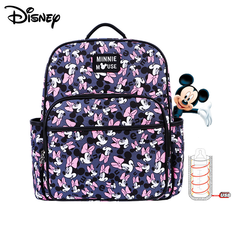 Disney Mommy Diaper Bags Mother Large Capacity Travel Nappy Backpacks Anti-loss Zipper Baby Nursing 	Disney Bags Dropshiping