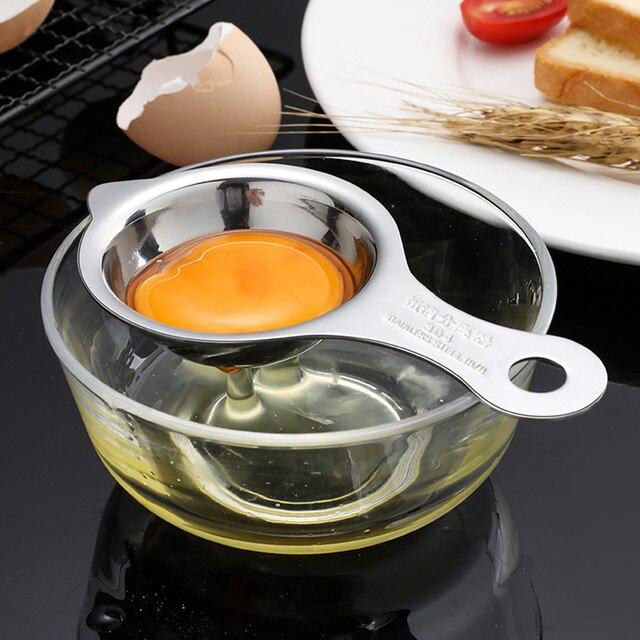Egg White Yolk Separator Holder Divider Seperater Tool Strainer PF