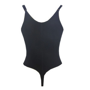Image 3 - 女性セクシーなtバック着用オープン股アンダーバストボディスーツ黒ジッパー下着fajas reductoras痩身ウエストトレーナー