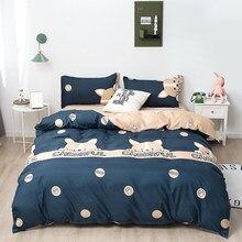 Śliczne Doggy kot truskawka zestaw poszewek proste Nordic pościel ustawia pojedyncze podwójne królowa król 220x240 łóżko dla dzieci kapa na kołdrę