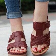 Wedge Sandals Platform Retro Shoes Orthopedic Open-Toe Anti-Slip Premium Female Casual