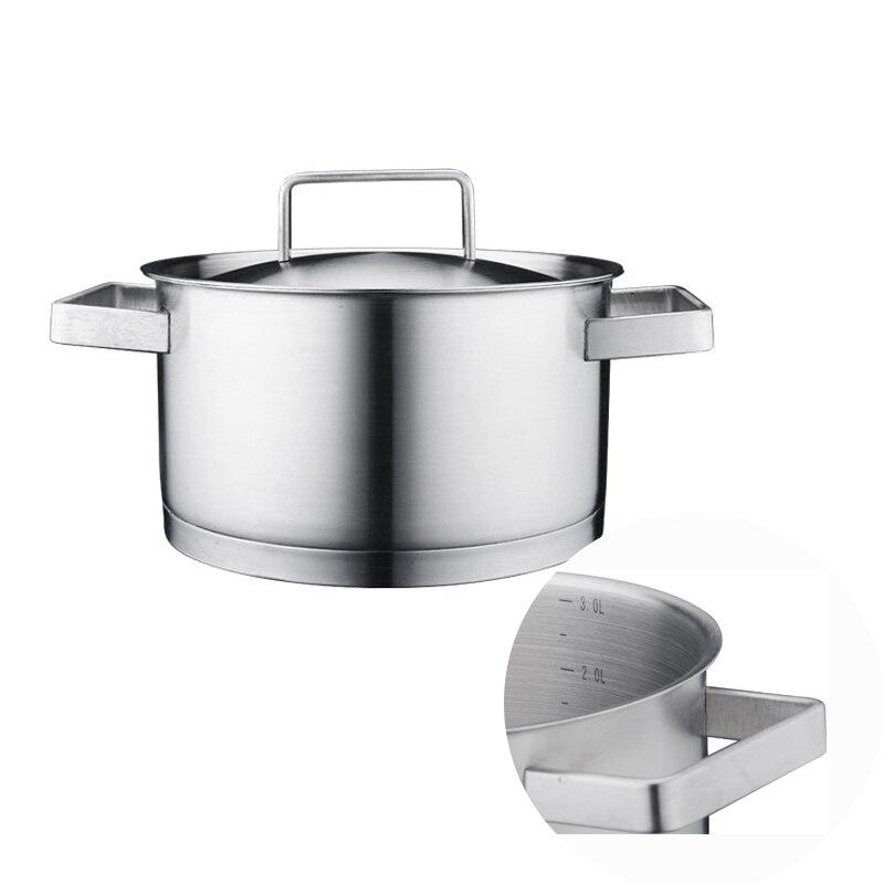 Ustensiles de cuisine en acier inoxydable avec couvercle Wok soupe nouilles pot avec Super épais haute qualité marmite Non toxique ustensiles de cuisine lave-vaisselle