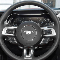 Carbon Fiber Interior Decoration Gear Shift Paddle Cover Trim for Ford Mustang Car Decal Stickers Accessories Brand New 2pcs
