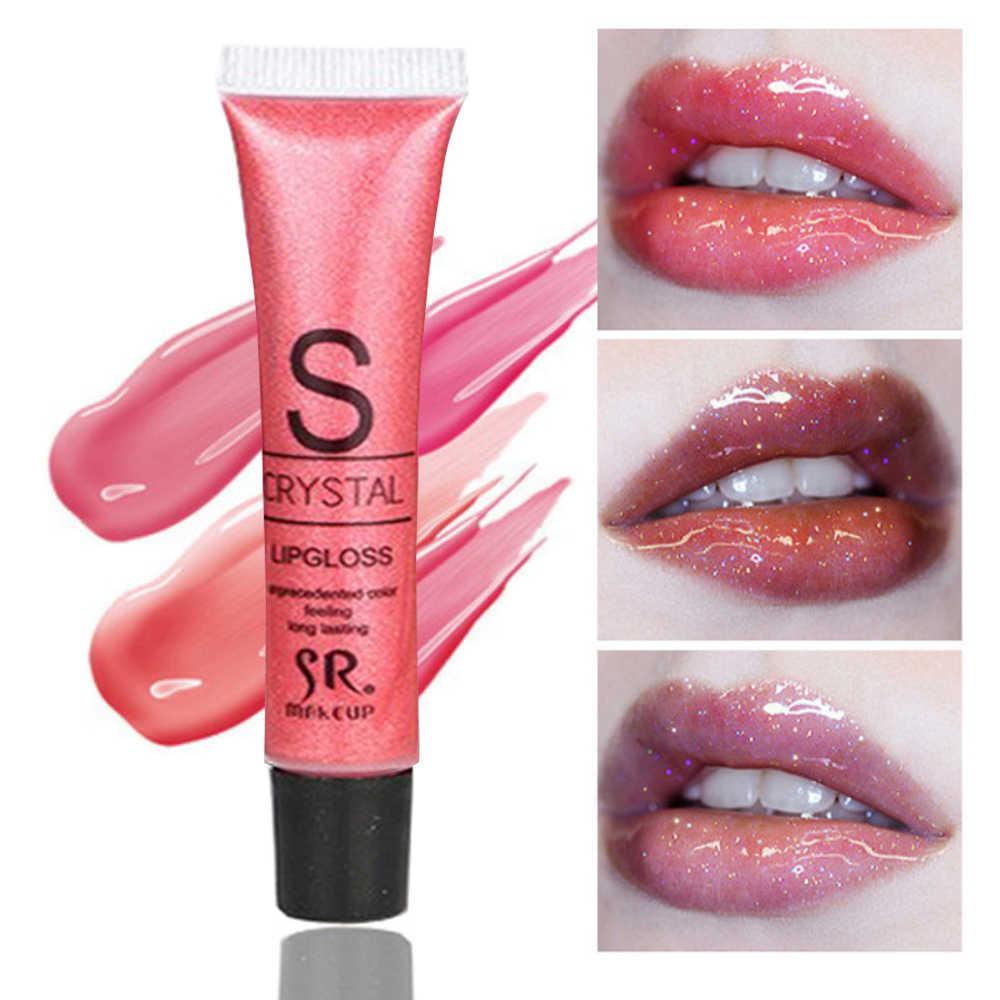 Tahan Lama Pelembab Bibir Glitter Gloss Warna Kosmetik Bergizi Shimmer Lipstik Kecantikan Bibir Makeup Maquiagem TSLM2