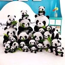 цена на Panda Doll Plush Toy With Suction Cup Panda Hug Bamboo Doll Birthday Gift Wedding Gift Pendant