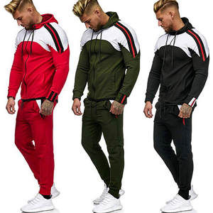 JAYCOSIN Men's Tracksuit 2019 Autumn Pocket Sweatshirt Top Pants Sets Sports Suit Tracksuit Men Mens Clothing ropa hombre 19AUG1