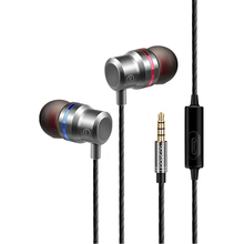 Professional Metal Headphone In Ear Wired Earphone 3.5mm Heavy Bass Sound Quality Music Sport Headset For iPhone Xiaomi Huawei