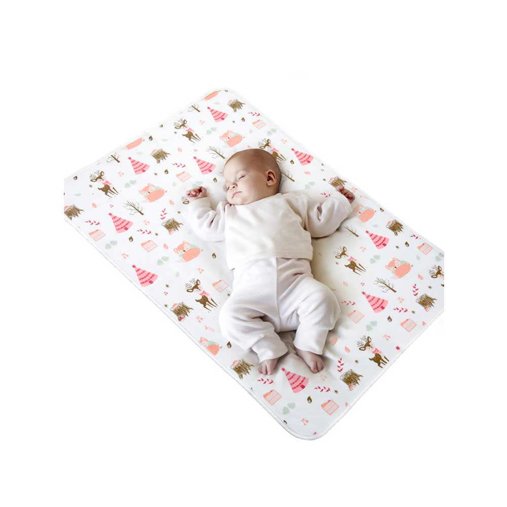 2pcs 70X50cm Baby Changing Mat Portable Foldable Washable Waterproof Mattress Baby Game Floor Mats Reusable Diaper Menstrual Pad