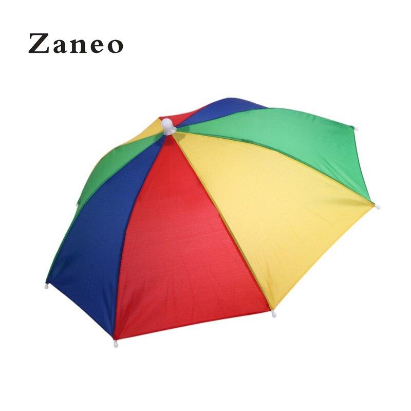 50 см прочный непромокаемый солнцезащитный головной платок для альпинизма, рыбалки на открытом воздухе без ручки легкая шляпа зонтик