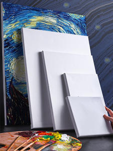 Easel-Board-Frame Oil-Painting Blank Wooden Canvas Artist White for Square Primed-Oil