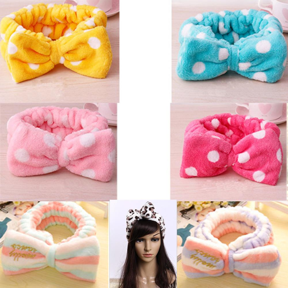 Cute Women Elastic Hair Band Bow-Knot Headband Lovely Makeup Headband Hair Accessories Ladies Twisted Lady Elastic Headwear 2019