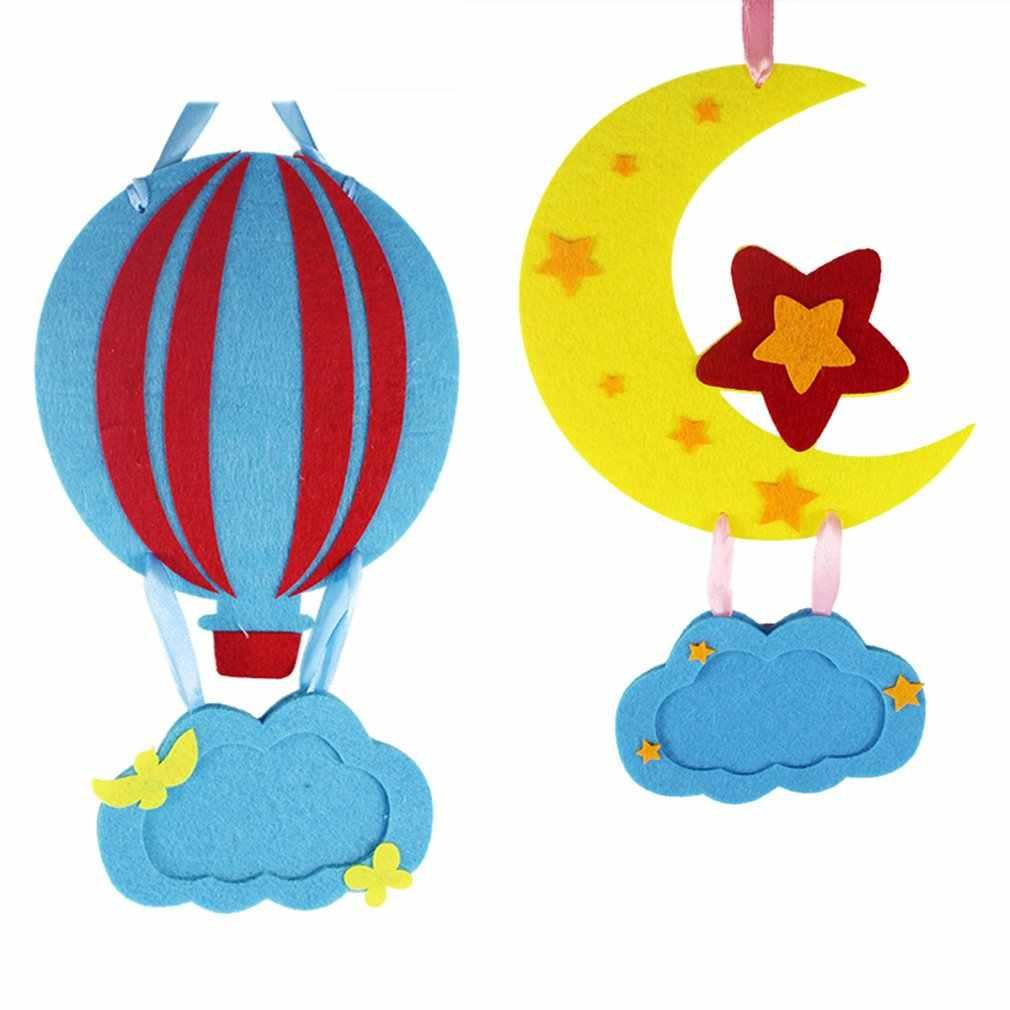 1PCS Kinder Kreative Vlies stoff Hängen Dekorative Bild Rahmen DIY Handgemachte Handwerk Kunst Spielzeug Interaktive Material Tasche