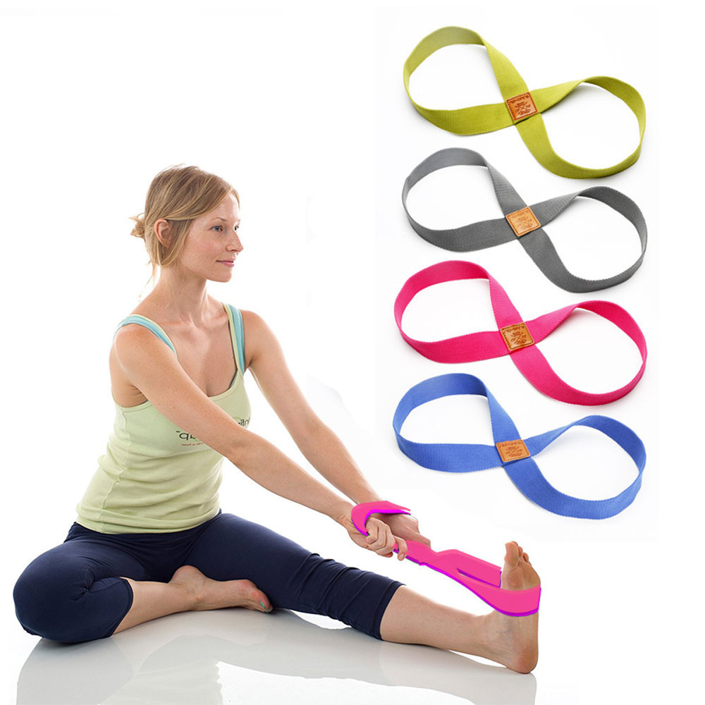 Yoga Stretch Strap Belt 8-shaped Women Yoga Pull Up Belt Rope For Wrist Waist Leg Training Gym Accessories Fitness Equipment