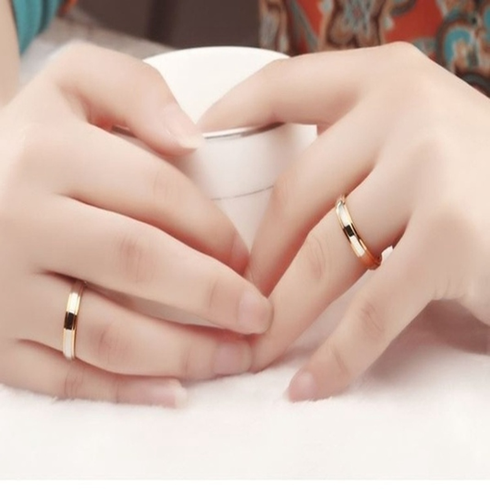 Anillos de acero alianza banda anillos para los hombres y las mujeres