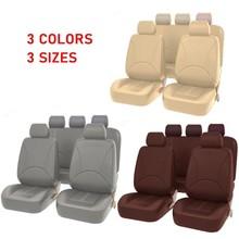2 4 9 sztuk uniwersalne pokrowce na siedzenia samochodowe Auto Protect pokrowce pokrowce na siedzenia samochodowe PU skórzane siedzisko obejmuje wygodne akcesoria tanie tanio Cztery pory roku Other Pokrowce i podpory 0 6kg Podstawową Funkcją Car seat cover