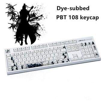 Five sides Dye-subbed PBT Keycap 108/128 Keys Cherry Profile Keycaps For MX Switches keyboard Knight errant keycaps 2u Shift in stock pbt dsa 9009 keycap set dye subbed keycaps