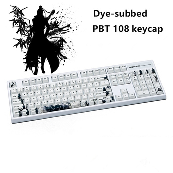 Five sides Dye-subbed PBT Keycap 108 Keys Cherry Profile Keycaps For MX Switches keyboard Knight errant key cap