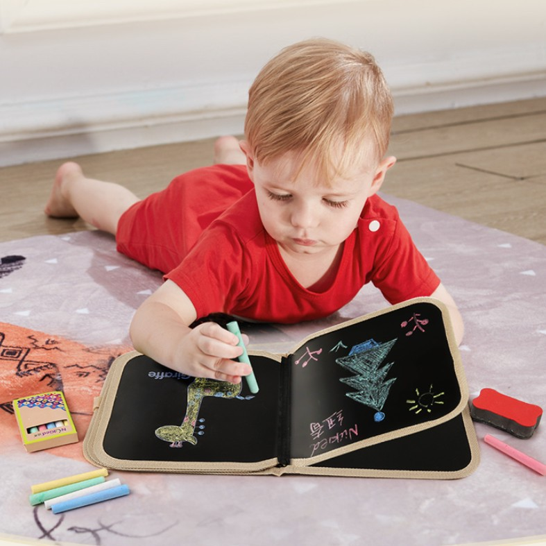 NUKied Children ENLIGHTEN Chalk Blackboard Small Drawing Book Color Graffiti Baby Portable Doing Homework Cognitive With Numbers