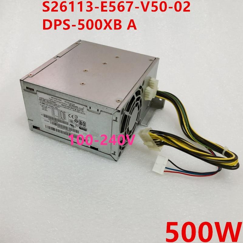 Nueva PSU para Fujitsu 500W fuente de alimentación S26113-E567-V50-02 DPS-500XB un Mini estufa eléctrica de 500 W, placa de cocina caliente, leche, agua, café, calefacción, aparato cocina multifuncional