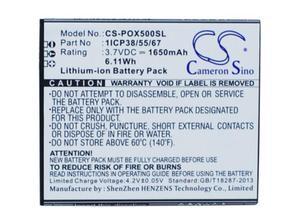 cameron sino 1650mah battery for NAVON Mizu D500 D501 M500 G55133 for POSH Orion Pro X500a 1ICP38/55/67(China)