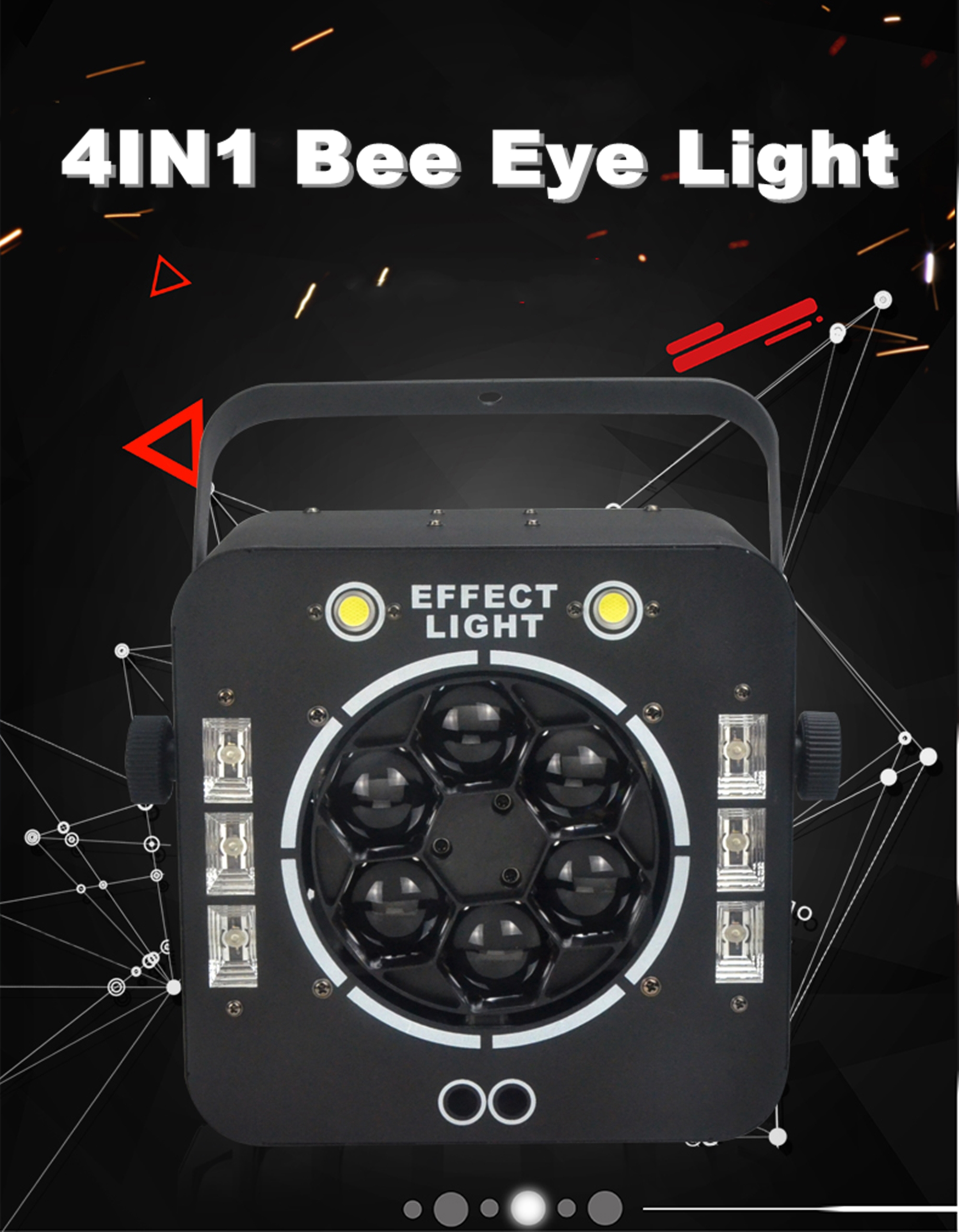 Luzes do palco led olho de abelha