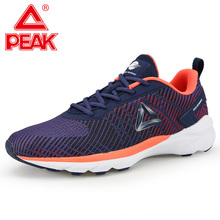 PEAK Running Shoes Men Cushion Flexible Rebound Sneakers Non-slip Wearable Durab