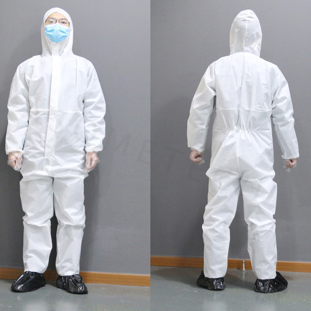 Disposable Isolation Suit and Antibacterial Medical Protective Clothing for Protection from Bacteria and Virus