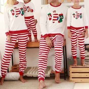 Conjunto De Pijamas a juego para Bebé y Niño, ropa De Navidad Familiar, Top + Pantalones estampados