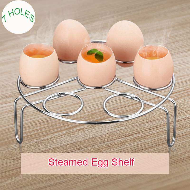 3 In 1 Stainless Steel Boiled Egg Steamer Rack Multi-function Steam Tray Insulation Shelf Steaming Tray Stand Kitchen Cookware